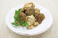 揚げごぼうと塩豆腐のトウチ炒め